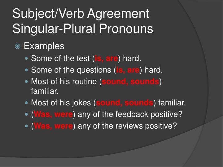 Ppt Subjectverb Agreement Powerpoint Presentation Id1160668
