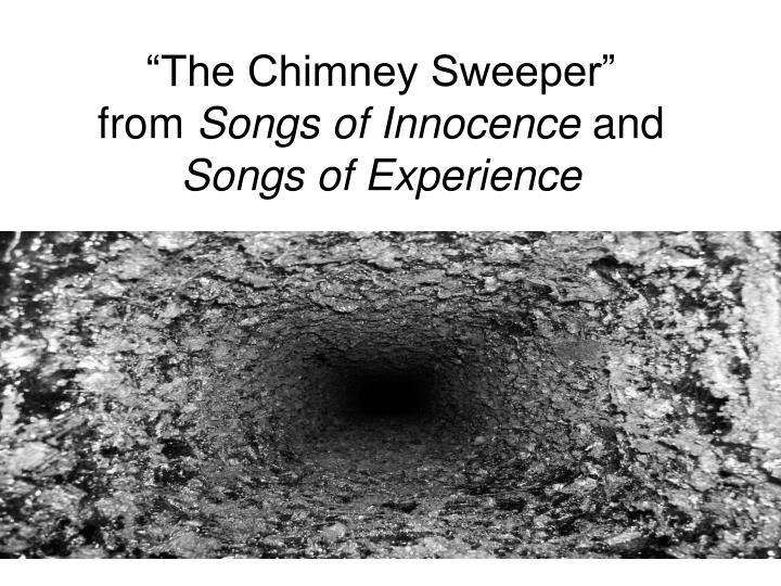 the chimney sweeper from songs of innocence and songs of experience n.