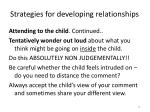 strategies for developing relationships1