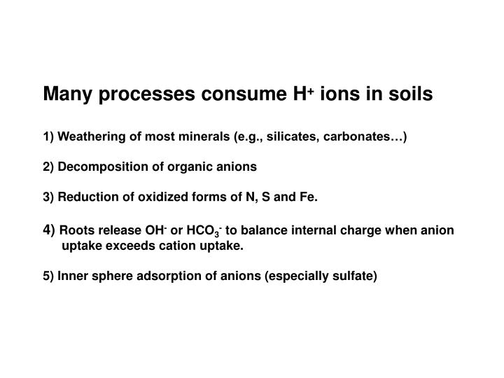 Many processes consume H