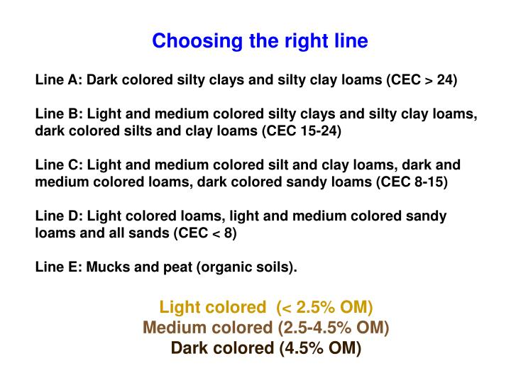Choosing the right line