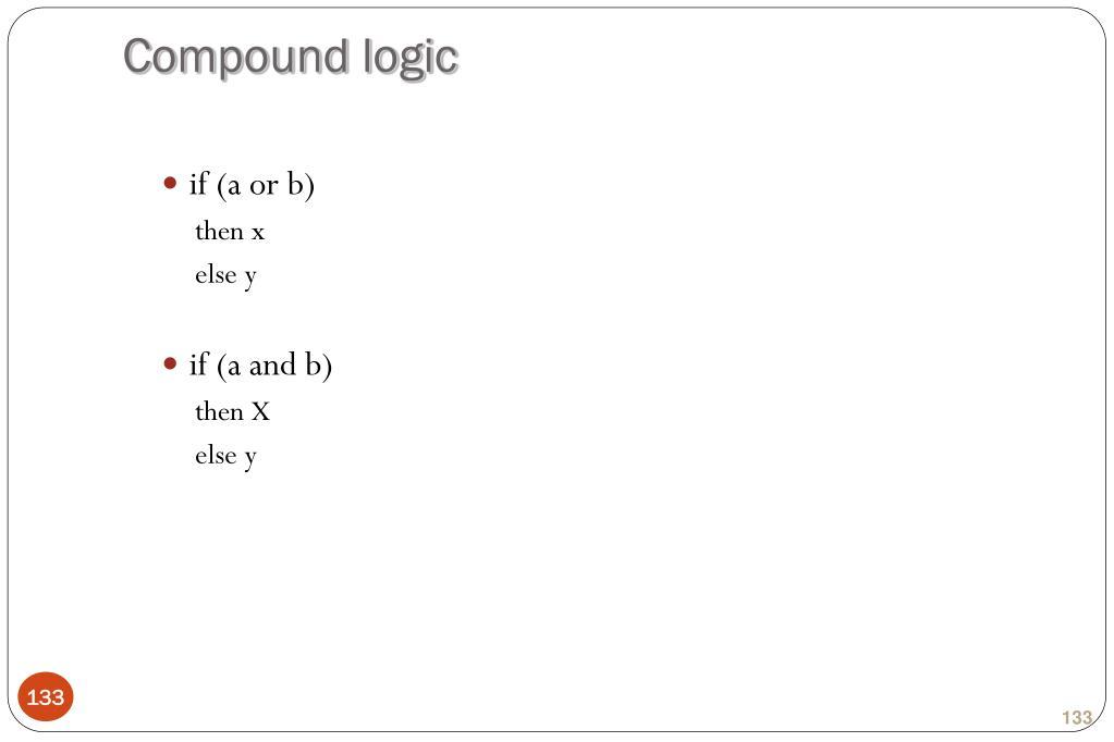 Compound logic