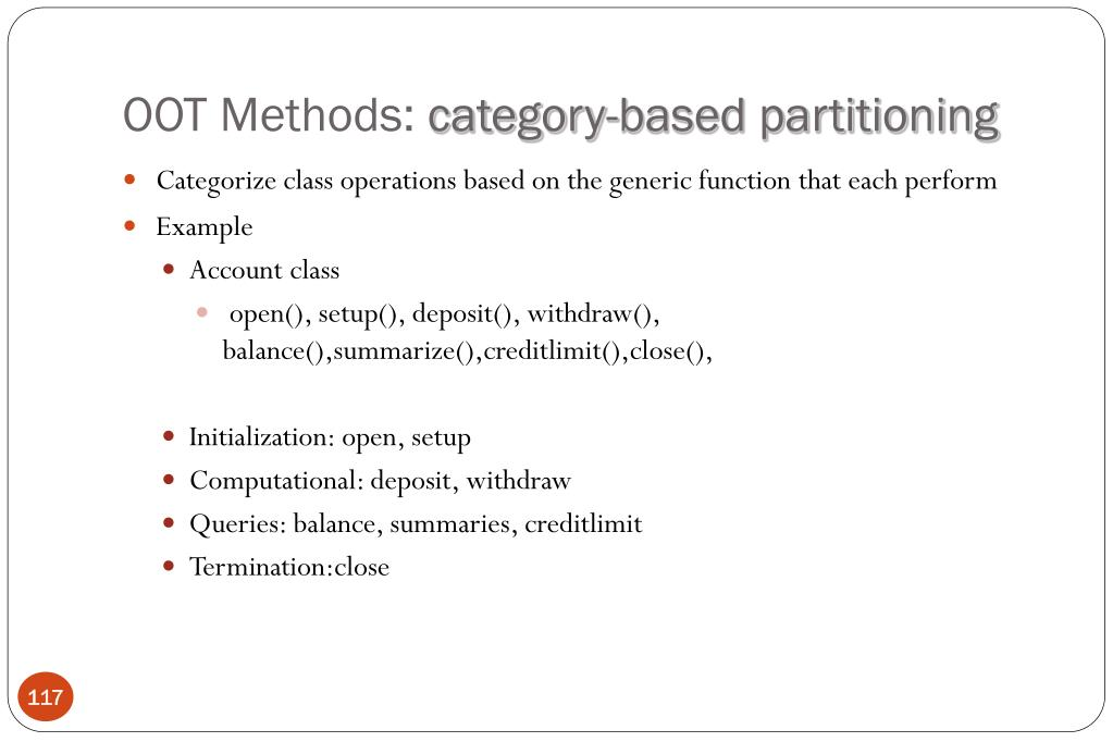 OOT Methods: