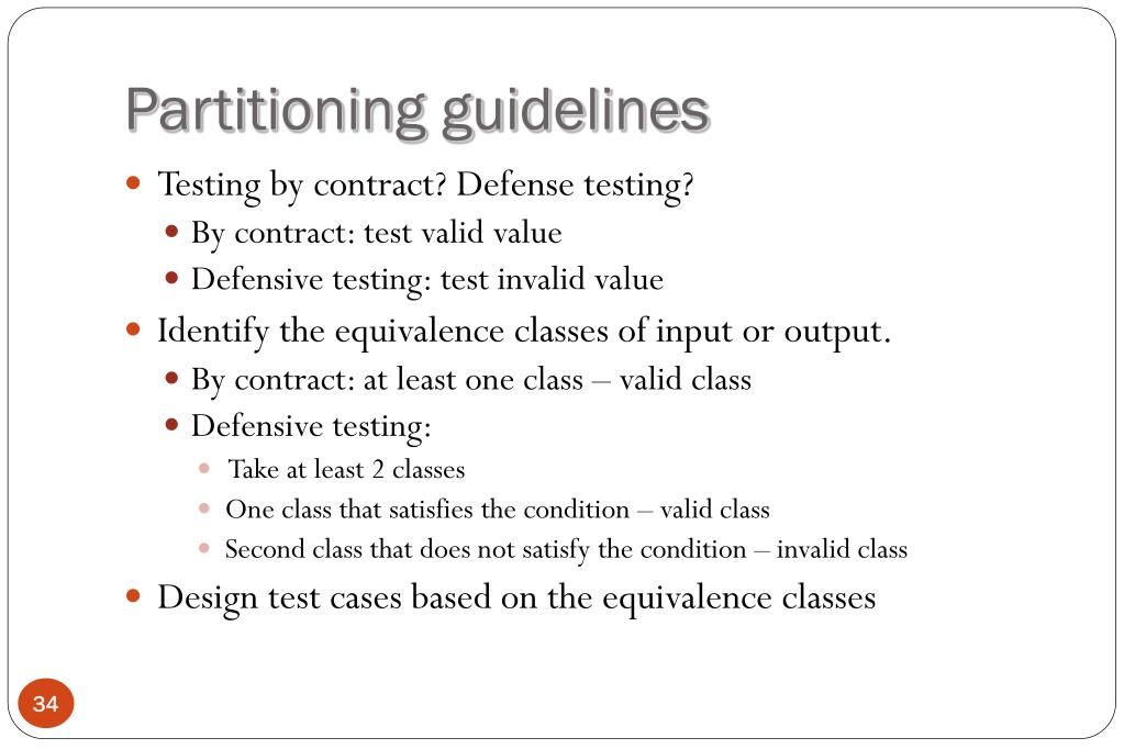 Partitioning guidelines