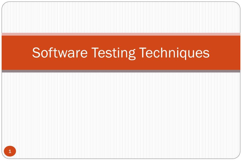 software testing techniques l.
