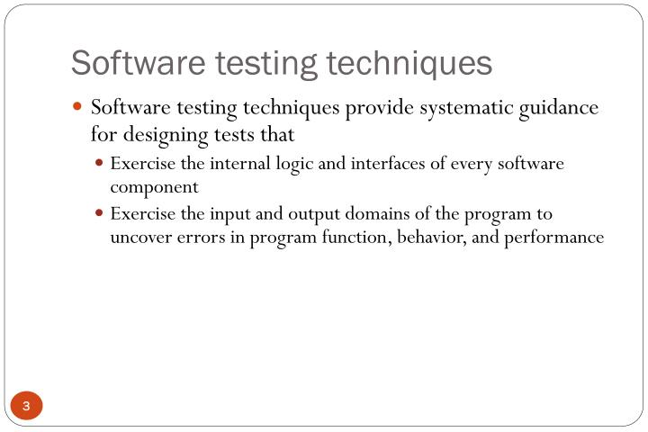 Software testing techniques3