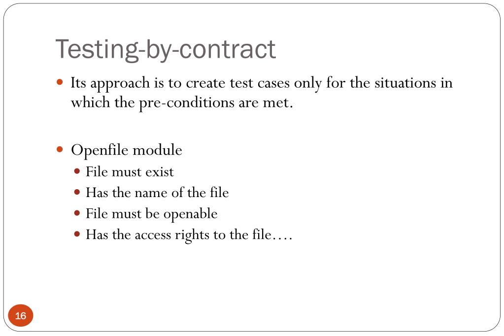 Testing-by-contract
