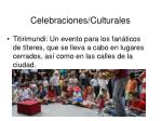 celebraciones culturales