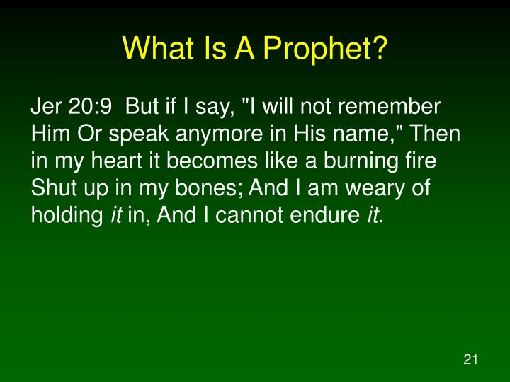 What Is A Prophet?