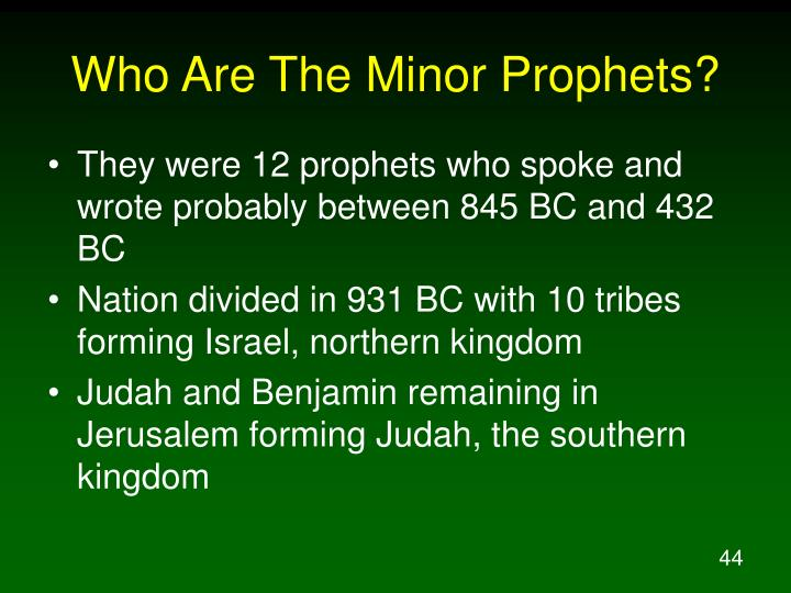 Who Are The Minor Prophets?