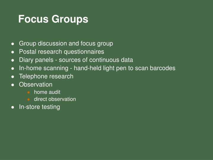 Group discussion and focus group