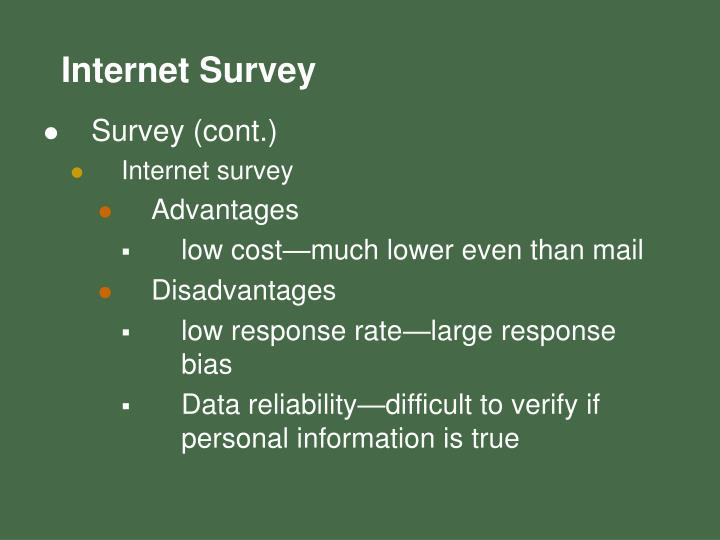 Survey (cont.)