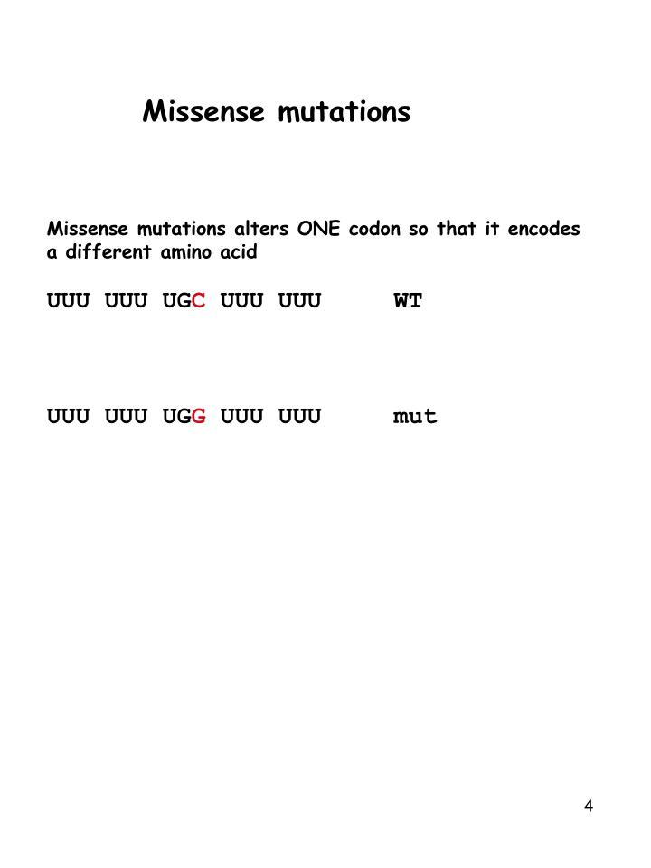 Missense mutations