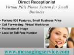 direct receptionist virtual pbx phone system for small business