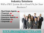 industry solutions will a pbx system be a good fit for your business