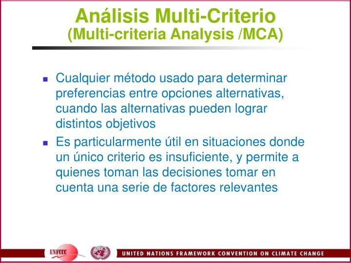 Análisis Multi-Criterio