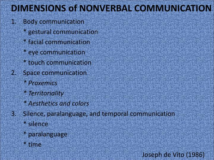 ppt - nonverbal communication powerpoint presentation