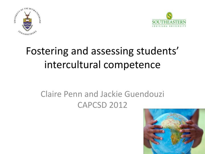 fostering and assessing students intercultural competence n.