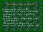 epidemiology and natural history1