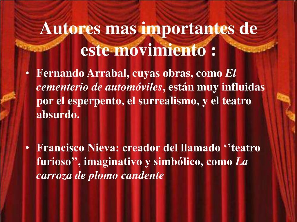 PPT - EL TEATRO A PARTIR DEL 1939 PowerPoint Presentation, free ...