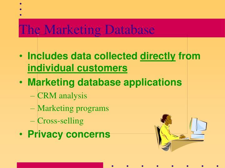 The Marketing Database