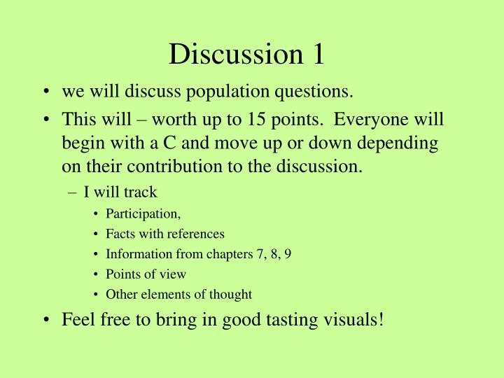 discussion 1 n.