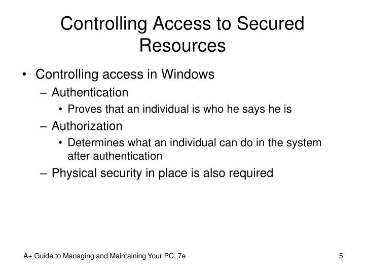 Controlling Access to Secured Resources