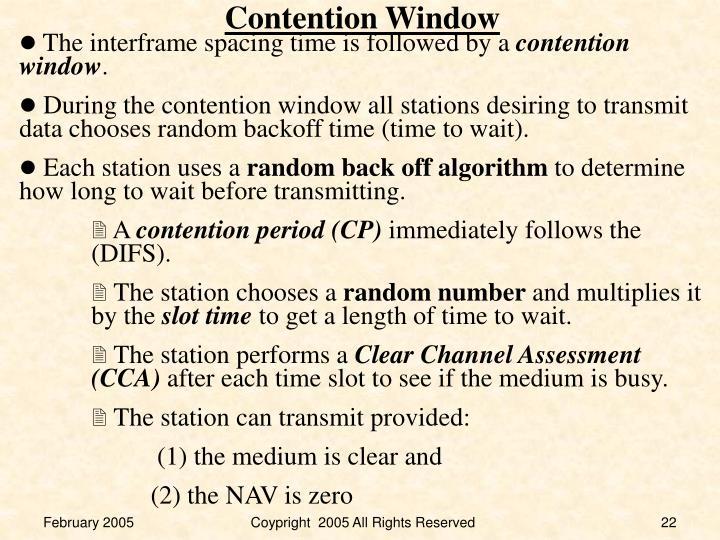 Contention Window
