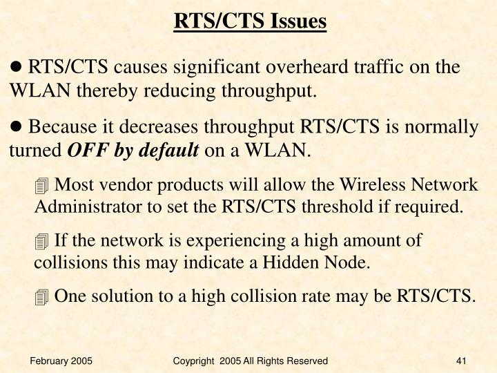 RTS/CTS Issues