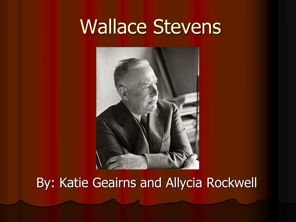 wallace stevens a high toned old christian woman