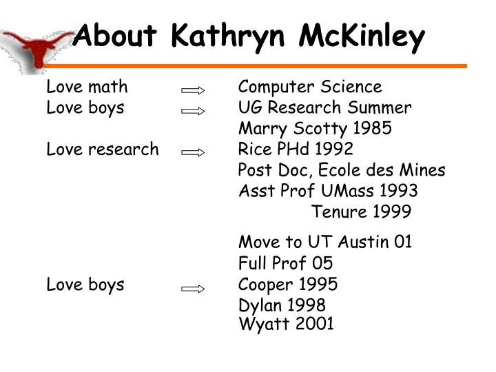 About kathryn mckinley
