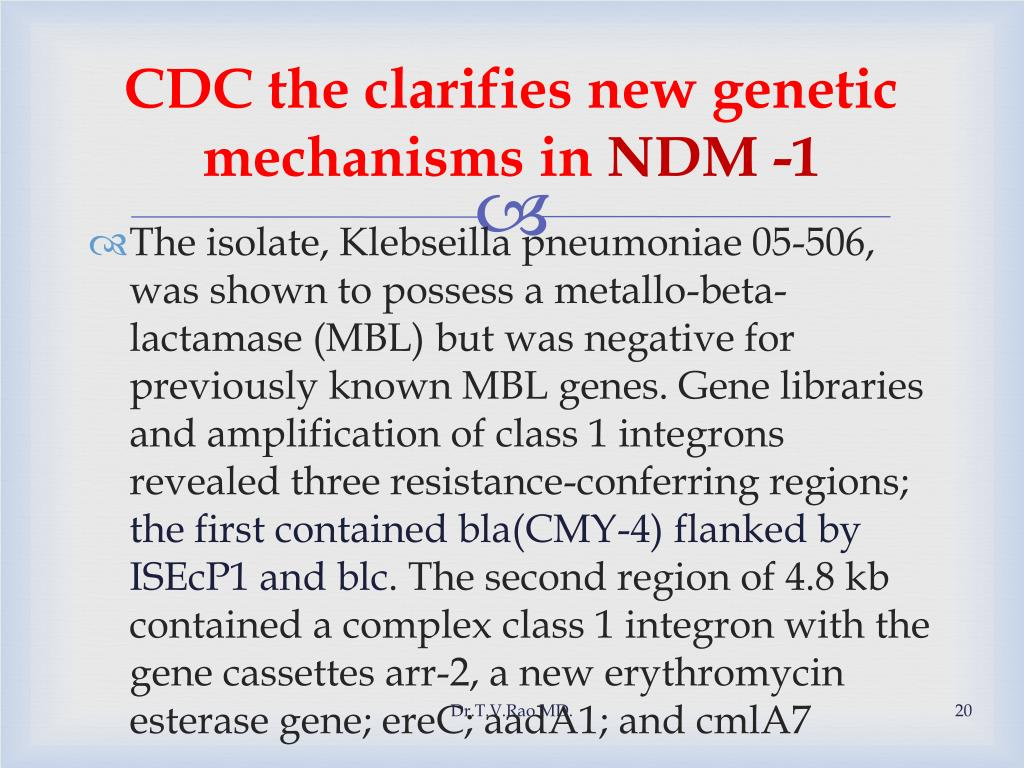 CDC the clarifies new genetic mechanisms in
