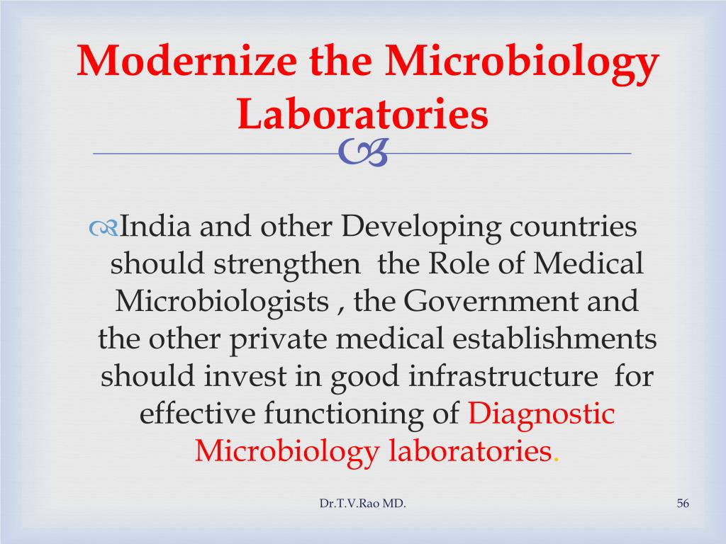 Modernize the Microbiology Laboratories
