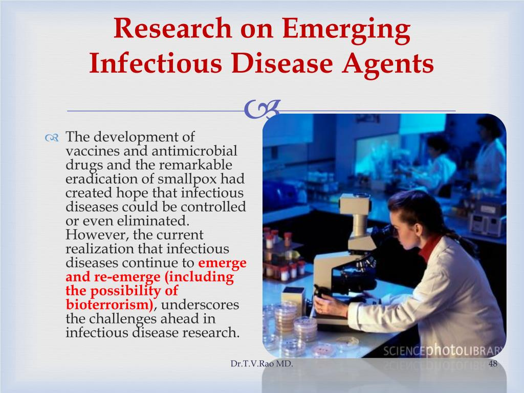 Research on Emerging Infectious Disease Agents