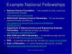 example national fellowships