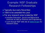 example nsf graduate research fellowships