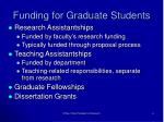 funding for graduate students