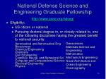 national defense science and engineering graduate fellowship http www asee org ndseg