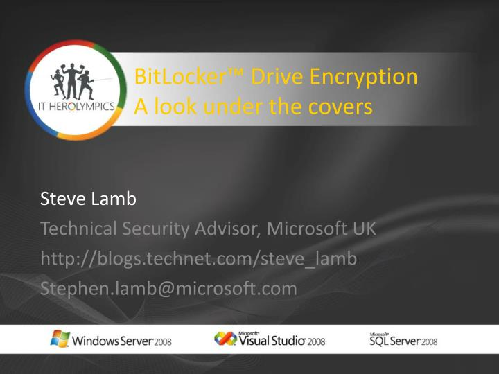 bitlocker drive encryption a look under the covers n.