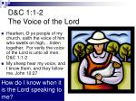 d c 1 1 2 the voice of the lord