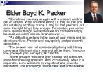 elder boyd k packer