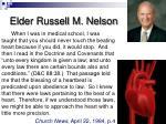 elder russell m nelson