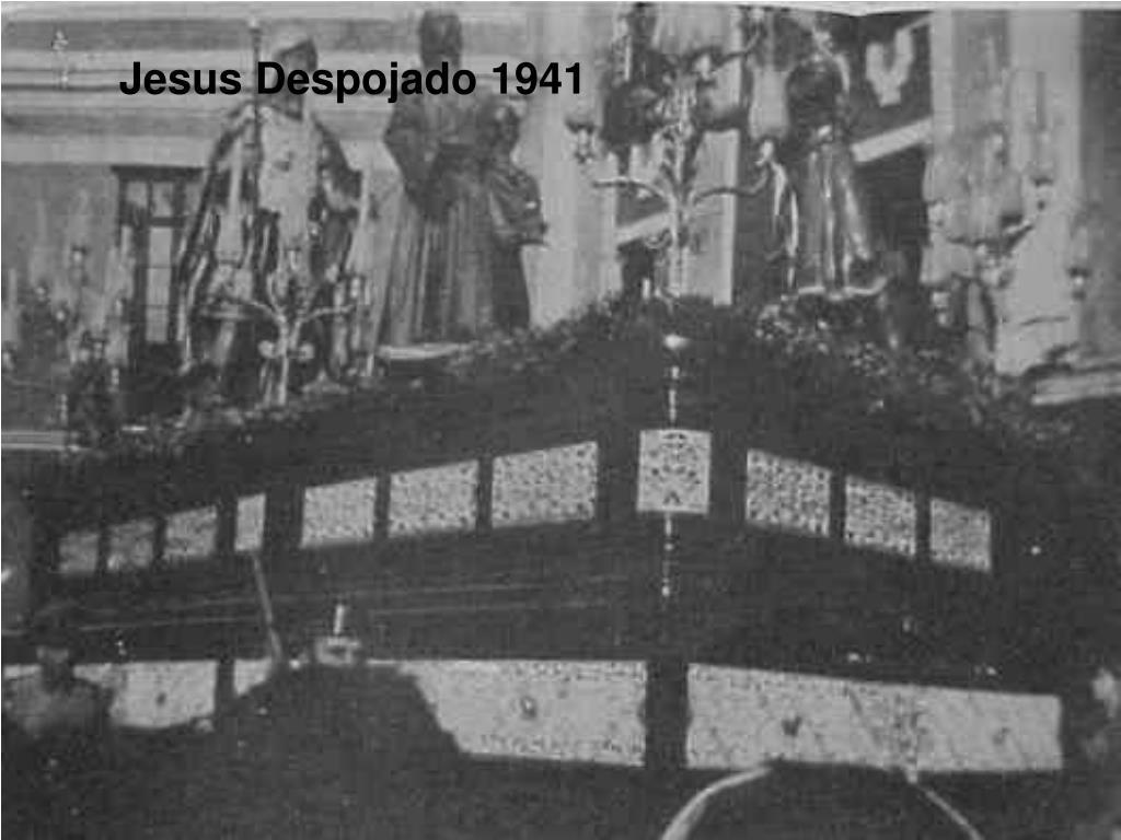 Jesus Despojado 1941