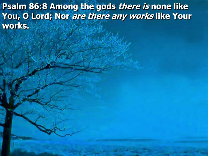 Psalm 86:8 Among the gods