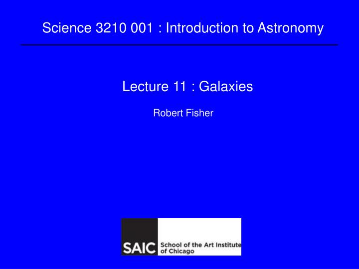 lecture 11 galaxies n.