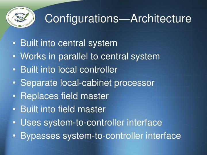 Configurations—Architecture