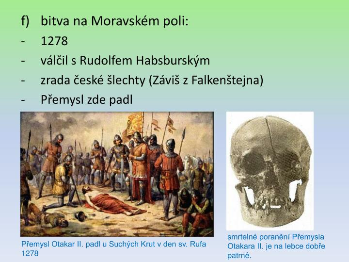 bitva na Moravském poli: