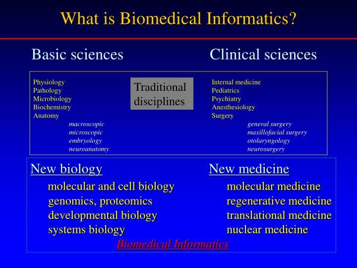 What is Biomedical Informatics?