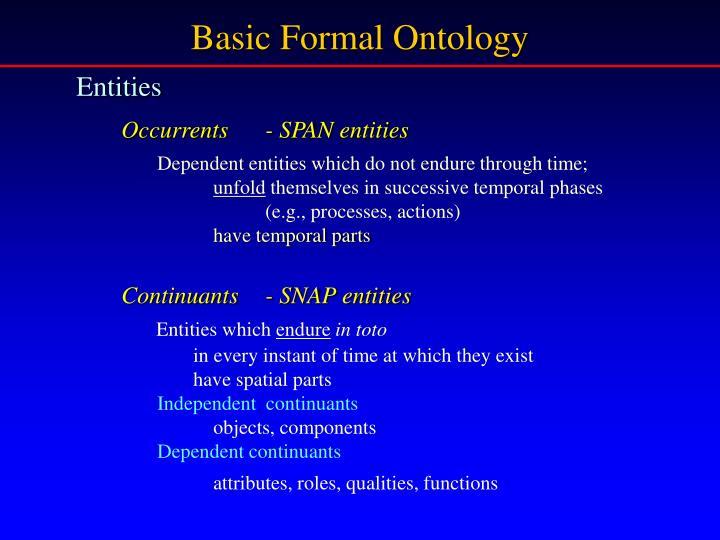 Basic Formal Ontology
