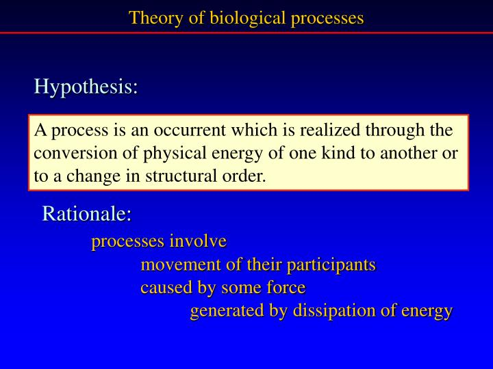 Theory of biological processes